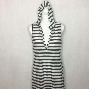 Kenneth Cole Reaction Hooded Swimsuit Coverup - SM